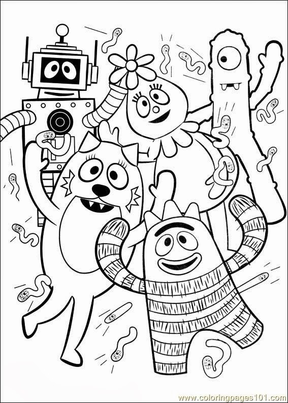 yo gabba gabba coloring pages to print