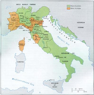 Italia Mapa Político