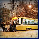 проводы уходящего года в нижегородском трамвае