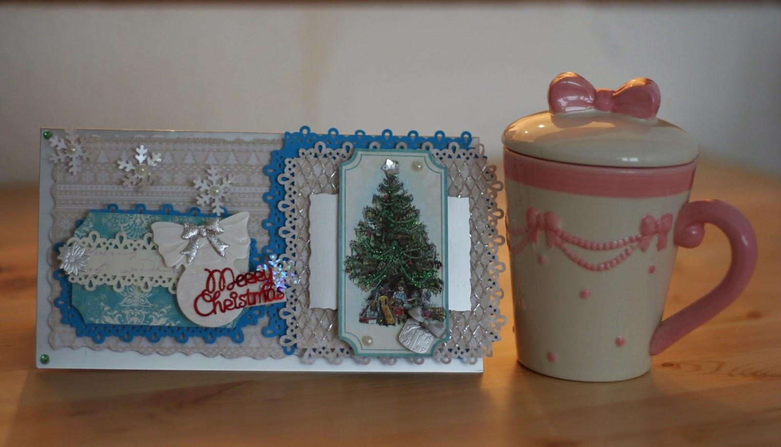 Mroźna kartka na Boże Narodzenie – scrapbooking