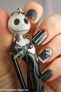 uñas decoradas Halloween el extraño mundo jack -