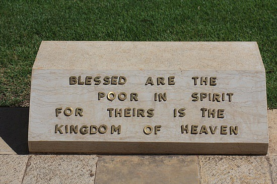 Blessed Are The Poor In Spirit For Theirs Is The Kingdom Of Heaven Handling the &q...