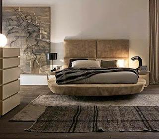 Schlafzimmer Braun Beige Farben Teppich Warm Bett