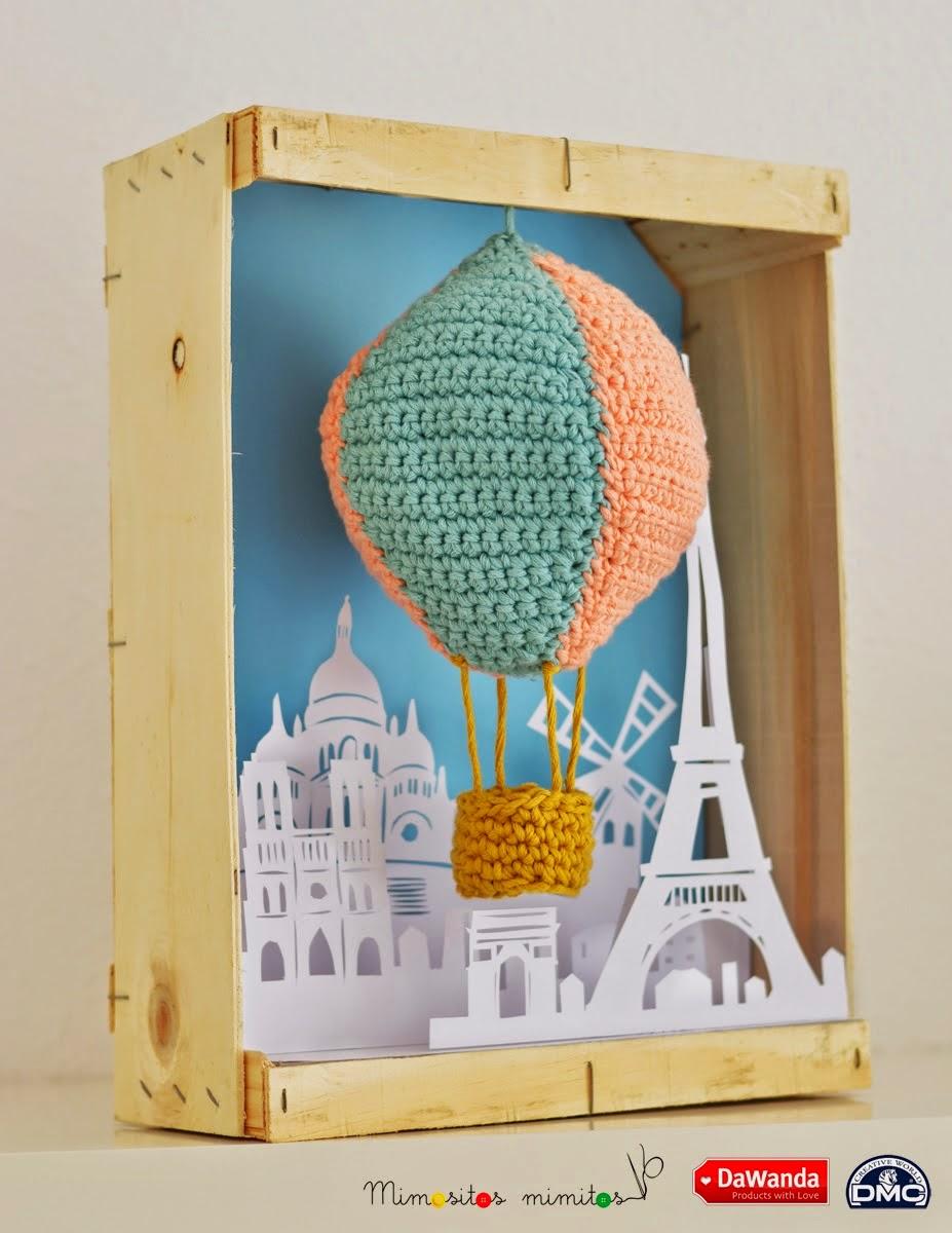 El blog de Dmc: Un globo aerostatico de amigurumi XL