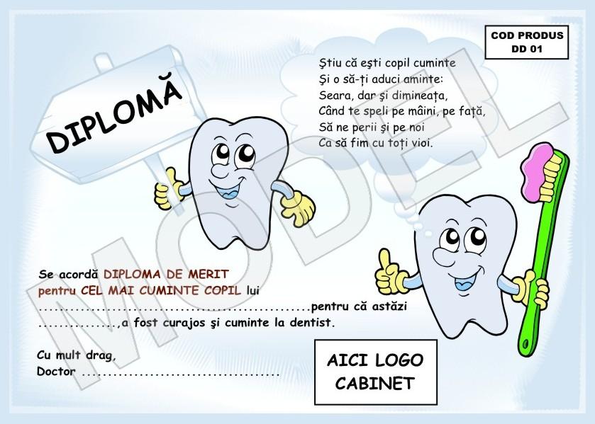DIPLOME PENTRU COPII CUMINTI   La Dentist