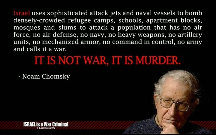 It is not a war, it is murder - Noam Chomsky