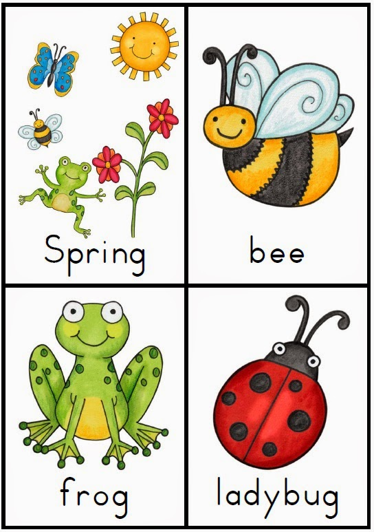Making and Writing Spring Sentences for Kindergarten {vocab & sentence work}