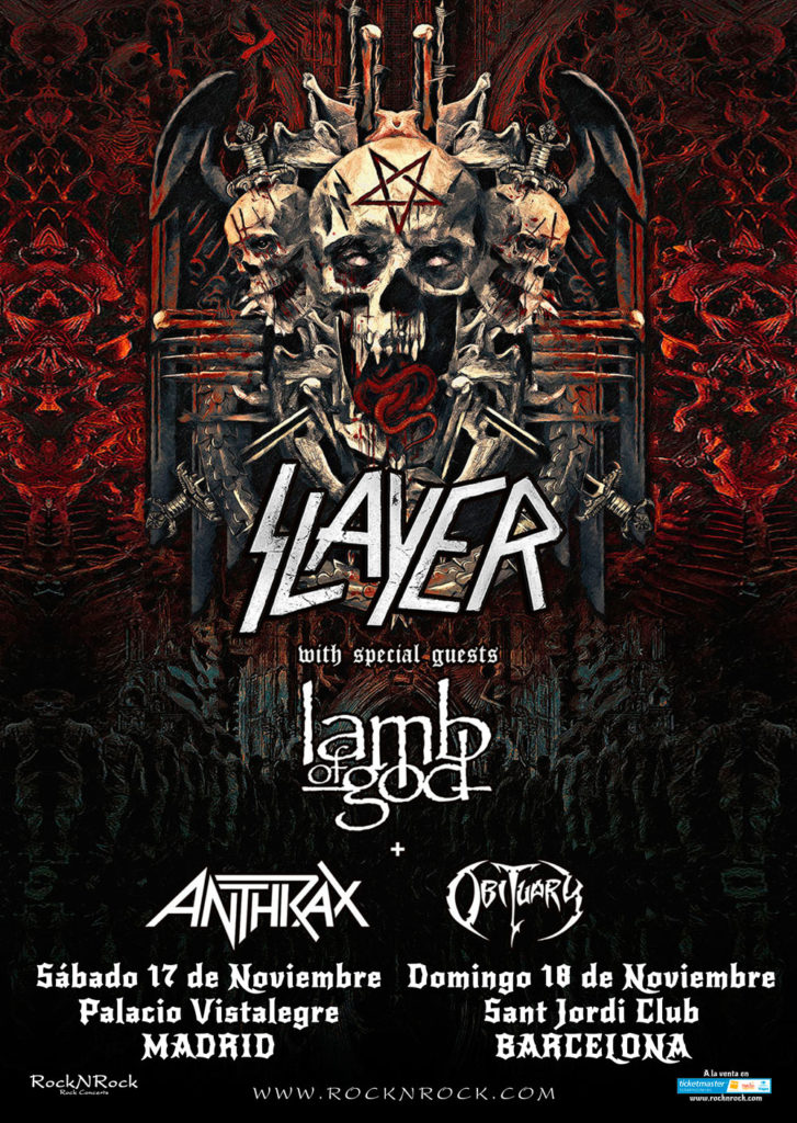 SLAYER - GIRA DESPEDIDA