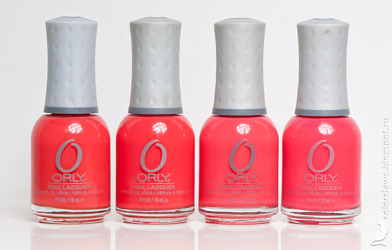 Orly Precisely Poppy, Orly Teeny Bikini, Orly Terracotta, Orly OMG
