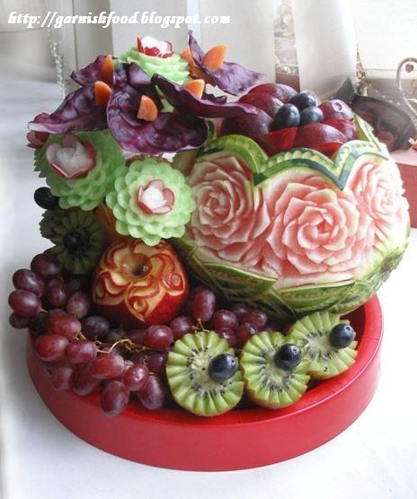 Fruit carving arrangements and food garnishes november