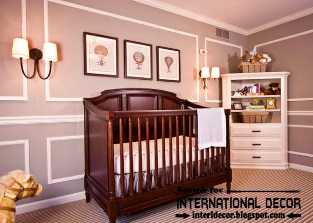 Decorative wall molding or wall moulding designs ideas and panels for kids room