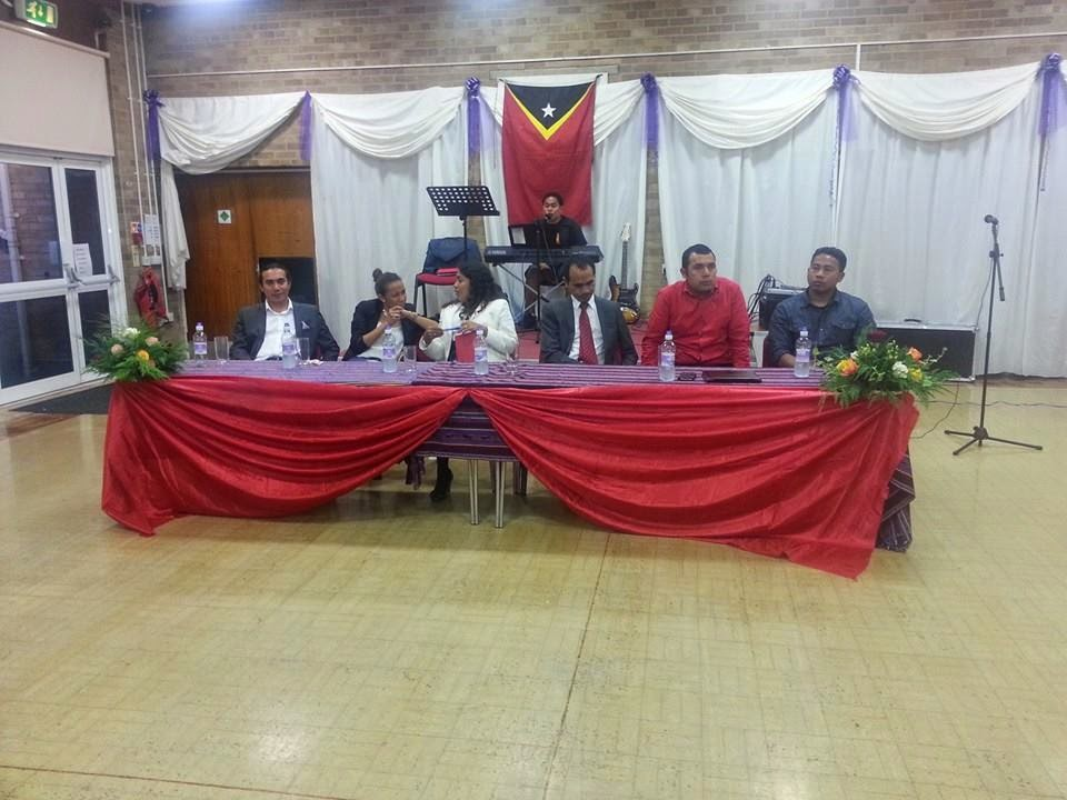 The ET Ambassador in  UK Mr. Joaquim Fonseca met the East Timor Community in Peterborough 2014