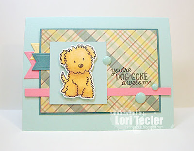 You're Dog-Gone Awesome card-designed by Lori Tecler/Inking Aloud-stamps from Avery Elle