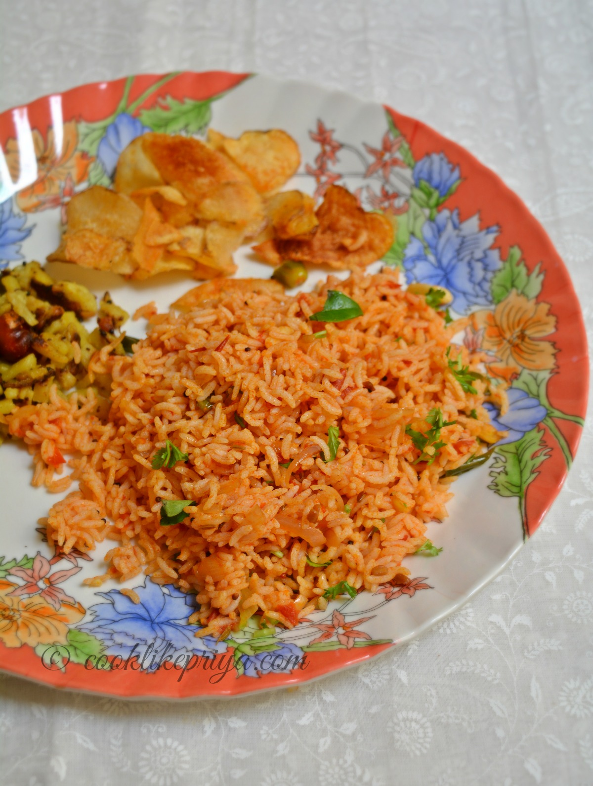 Tamil Rice Recipe - Tomato Rice | Thakkai Sadam Recipe
