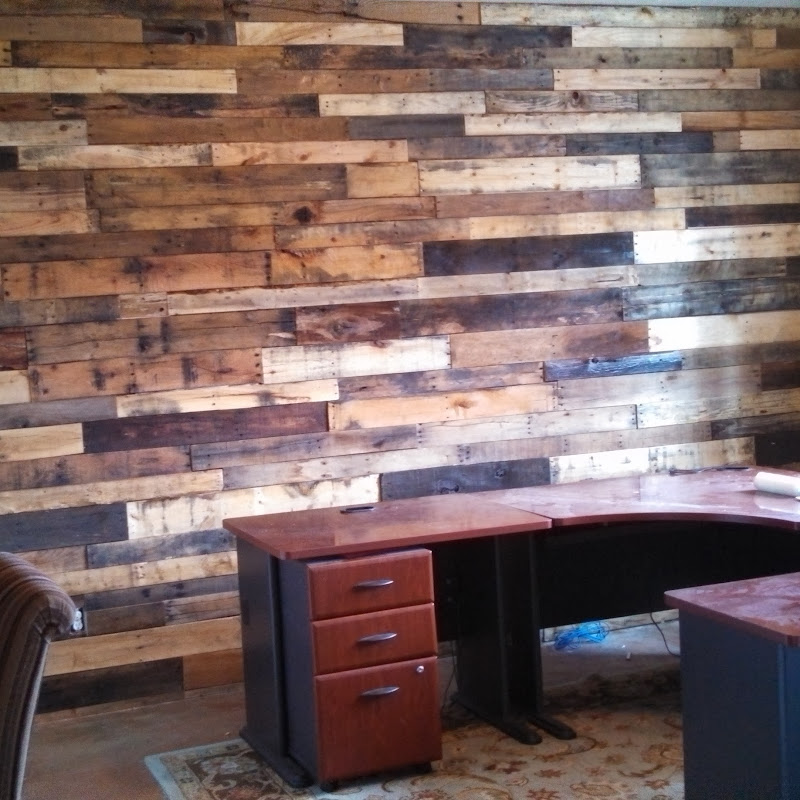 Reclaimed wall before and after install pics. Prices vary depending on  title=