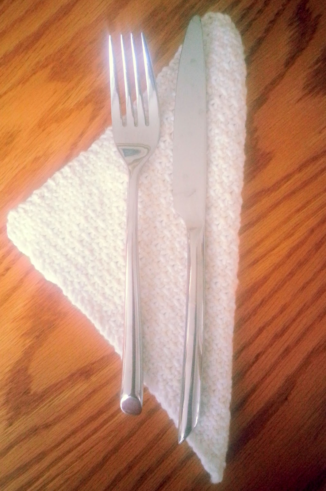 "Handmade knit cotton dinner napkins  | *sparklingly | ""Home linens"""