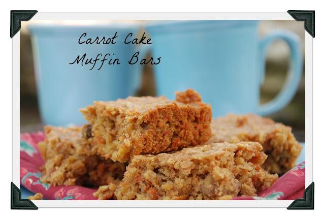 carrot cake muffin bars {for april's src}
