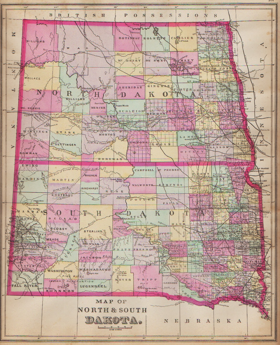 Antique Prints Blog: Splitting Dakota Territory