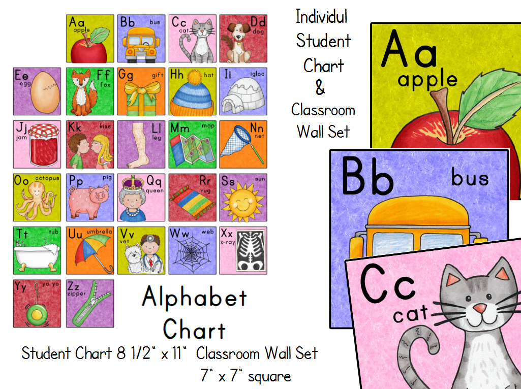 Alphabet Charts For Kindergarten Alphabet Chart Matching