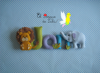 nombre-fieltro-animales-Jon-elbosquedelulu-hechoamanoparati-regalo-personalizado-nacimiento-original-felt-banner