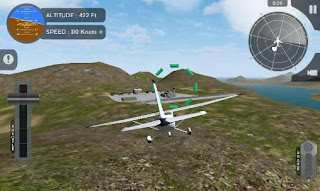 Screenshots of the Avion flight simulator 2015 for Android tablet, phone.