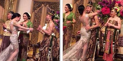 Foto Kebaya Syahrini Pernikahan Raffi Ahmad Nagita Slavina 2014