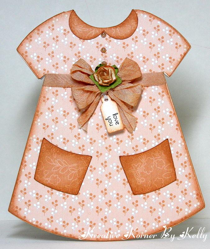 kreative korner by kelly  dress shaped card
