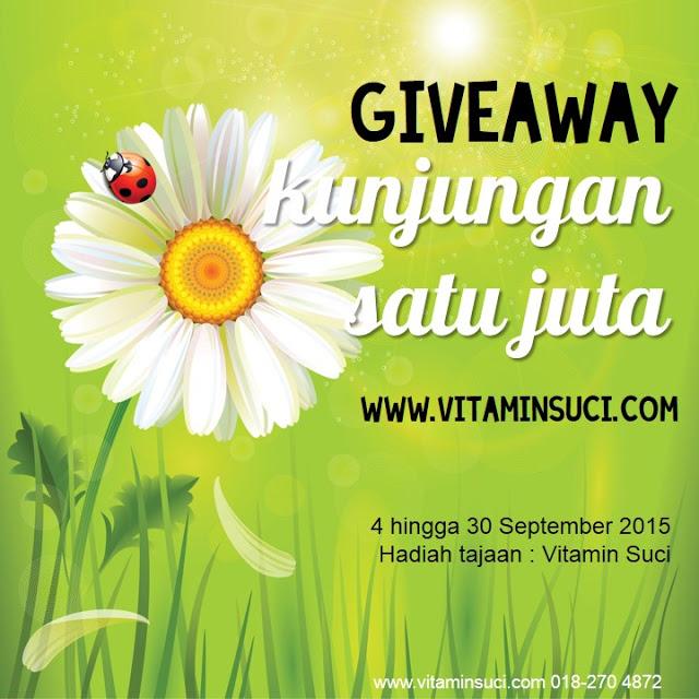 Giveaway Kunjungan 1 Juta www.vitaminsuci.com