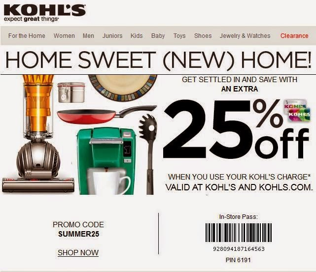 Kohls coupons locations