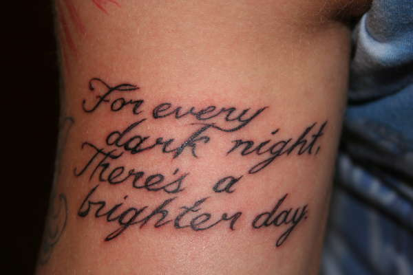 The most common tattoo design which became popular two years and quotes
