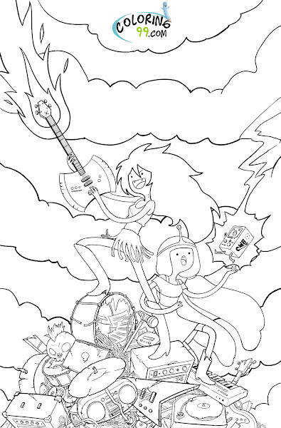 Adventure Time Coloring Pages Printable