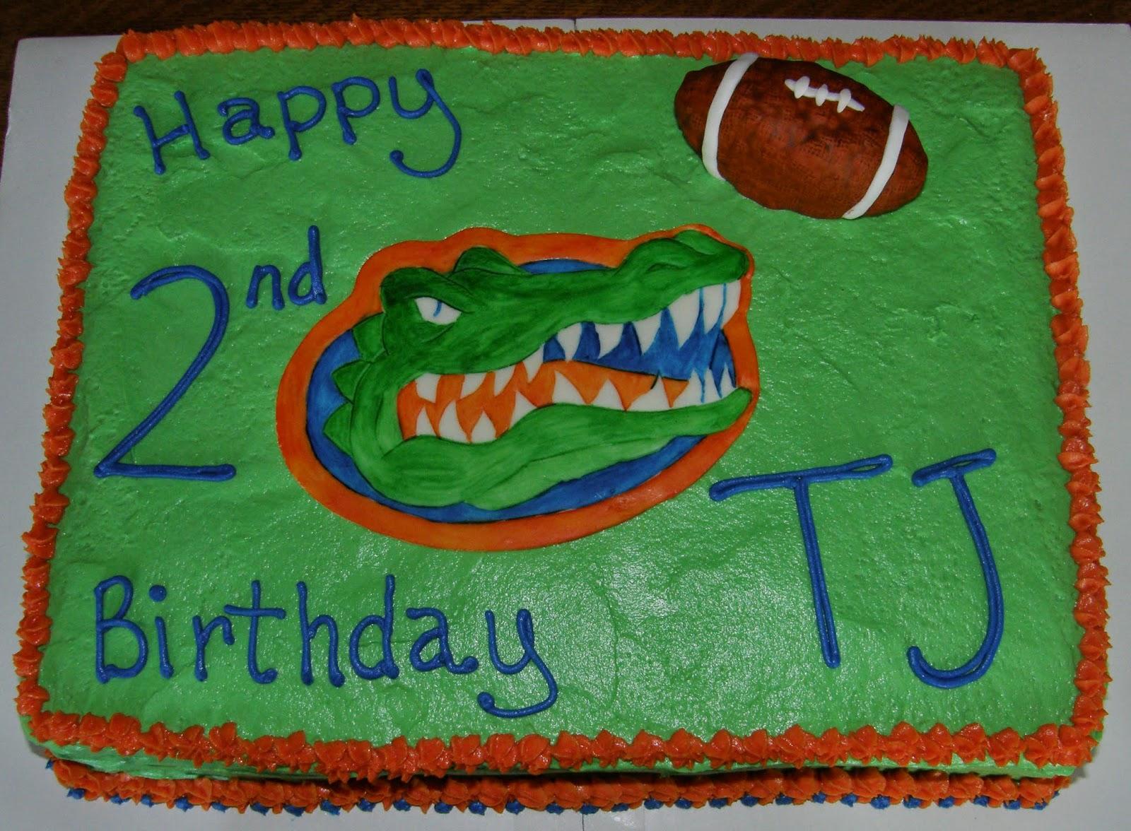 Mrs Lydias Kitchen Gator Football Cake