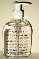 tip garden personalized soap or hand sanitizer bottles. Black Bedroom Furniture Sets. Home Design Ideas