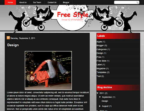 FreeStyle Blogger Theme