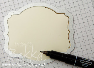 Photo Tutorial showing how to make lovely borders and shading with your Framelit / Nestability Dies - here shown with Stampin' Up!'s Deco Labels Framelits