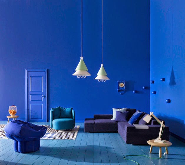 Decoración de Interiores, Color Azul