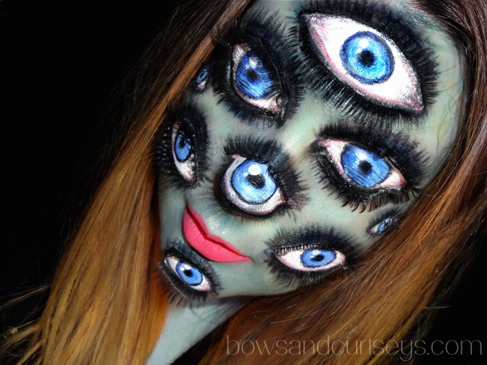 I\'ve Got My Eyes on You - Halloween Makeup ~ Bows and Curtseys