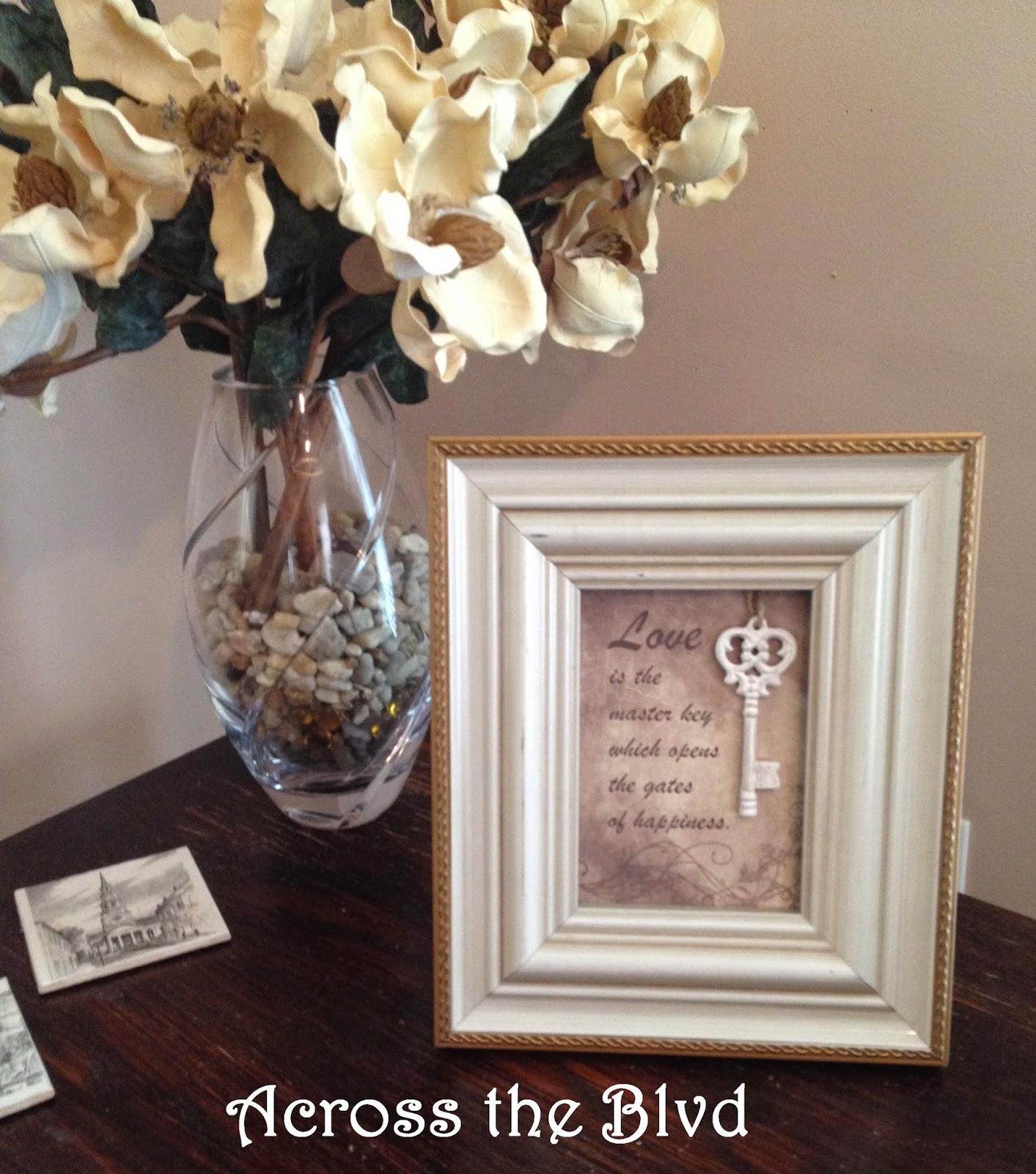 table top frame decor