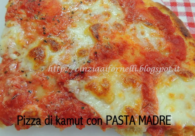 pizza di kamut con pasta madre