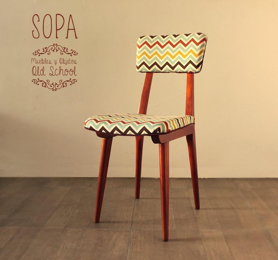 Sopa muebles y objetos old school silla americana retro for Vintage muebles y objetos