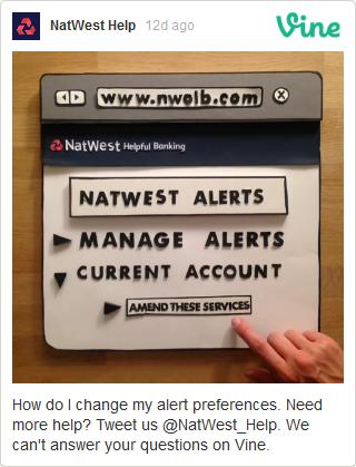 Exemple de Clip Vine de NatWest