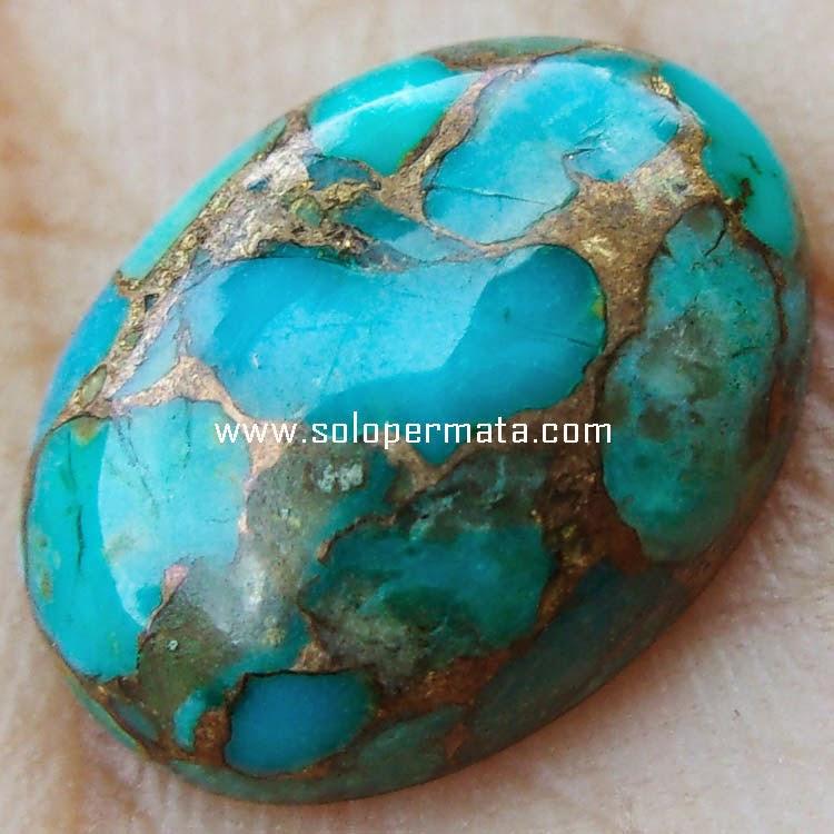 Batu Permata Pyrus Persia Urat Emas Turquoise