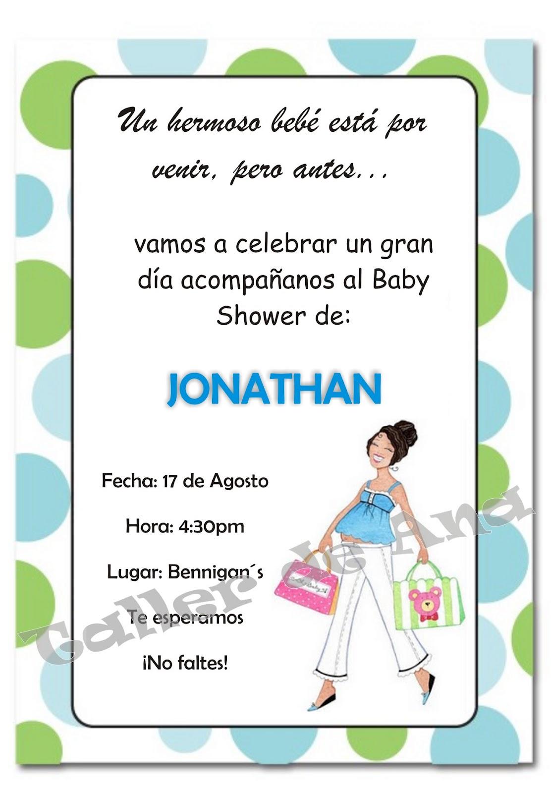 Fotos De Invitaciones Para Baby Shower