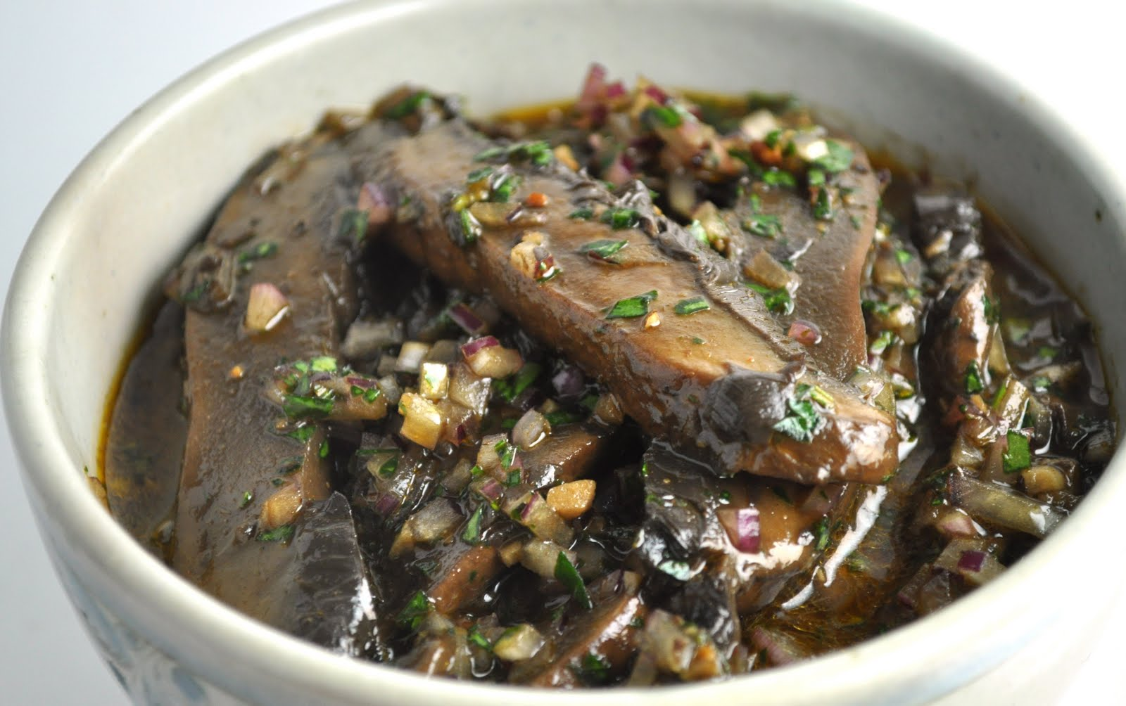 vegan ascent: Marinated Portobello Mushrooms