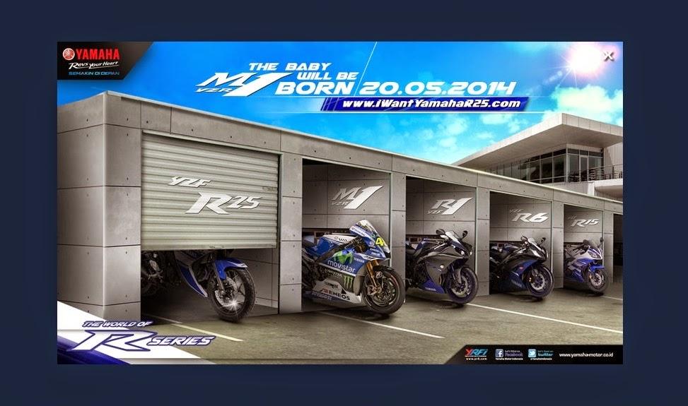 Akan di launching pada tanggal 20 Mei 2014 . . situs inden online Yamaha YZF R25 sudah di buka !
