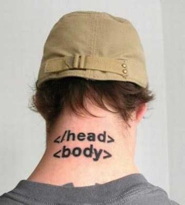 Script Language Tattoo - Tatuagem Nerd