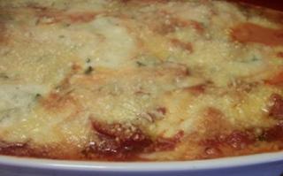 Lasanha de presunto e queijo light
