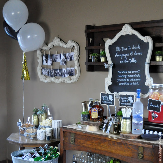 drink station at anniversary party by Lorrie Everitt for Creative Bag