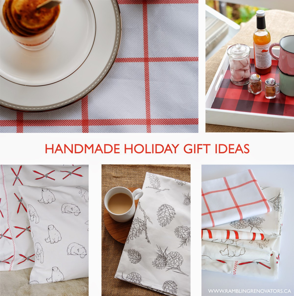 handmade holiday gift ideas with fabric and wallpaper