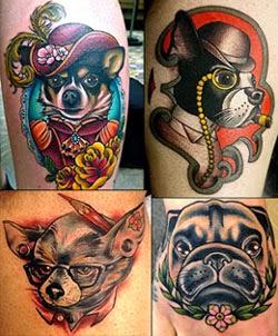 Significados das tatuagens de cachorro